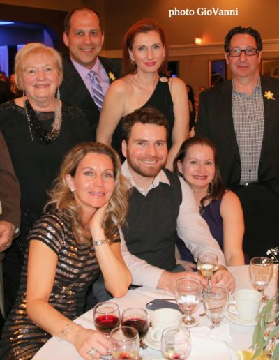 Attendees seated around a table at the Daffodil Gala